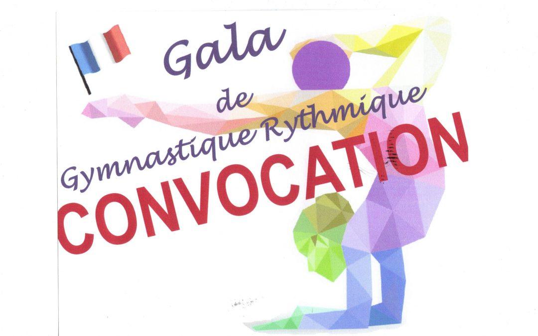 CONVOCATION GALA «Douce France» Samedi 24 Juin 2017 PALAIS DES SPORTS