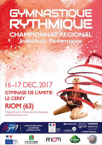 Championnat  régional «Performance» pour les catégories  Nationales 16 et 17 Décembre à RIOM