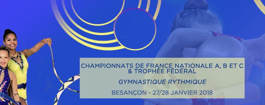 Championnat de France individuel à Besançon Convocation 27 et 28 Janvier 2018