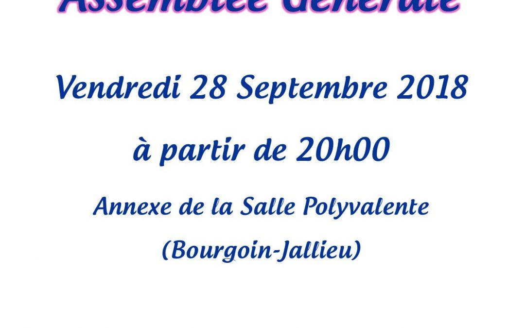 Assemblée générale de la GRBJ Vendredi 28 Septembre