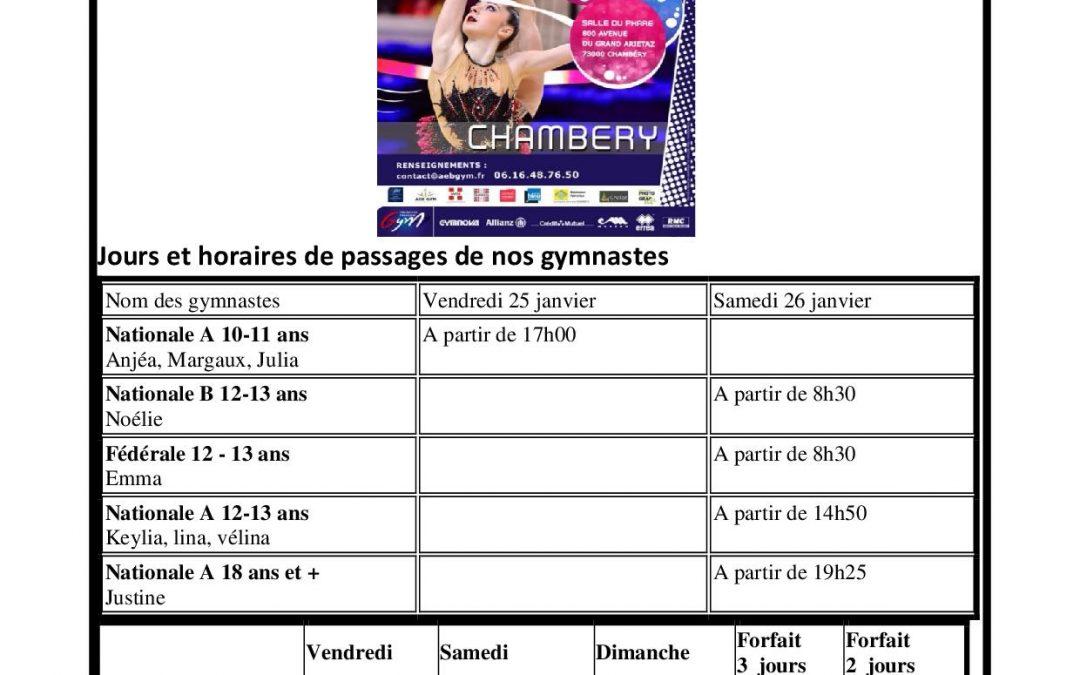 Championnat de FRANCE DE CHAMBERY – Appel aux supporters