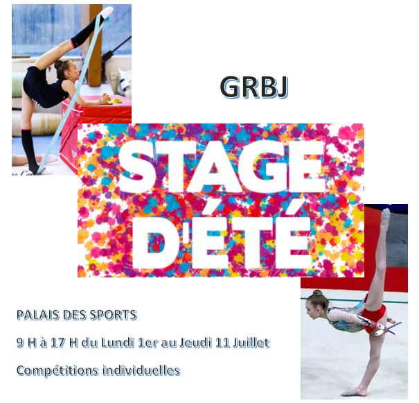 Remise des justaucorps d'équipe propres / Stage d'été pour les compétitions individuelles  / bourse GRBJ